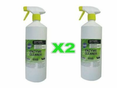 2 X Bottle of Gompels Heavy Duty Enzyme Cleaner (1 litre each)