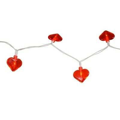 10 Valentine S Red Heart Led Fairy String Lights Wire 3 Ft Battery Operated