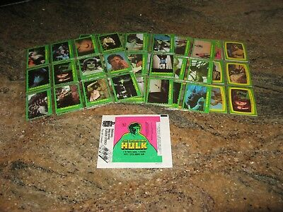 1979 Topps Incredible Hulk Card (88) & Sticker (22) Set with Wrapper - Complete