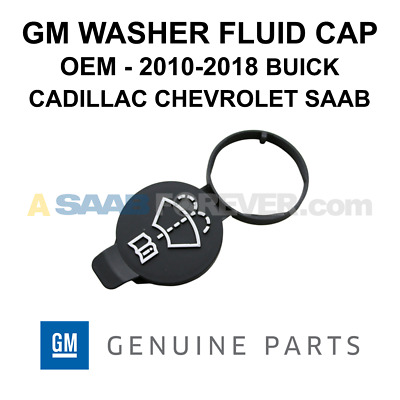 NEW OEM GM Washer Fluid Cap FITS 10-18 Buick Cadillac Chevrolet Genuine 13227300