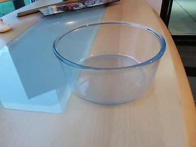 Vintage Pyrex clear glass  mixing type bowl