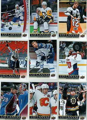 2018-19 Upper Deck UD Series 1 Canvas Comple Your Set Hockey - U Pick From List