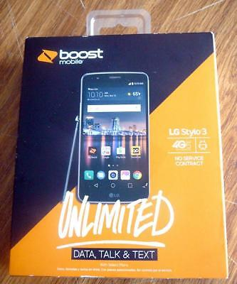 NEW BOOST MOBILE LG Stylo 3 16GB 5 7