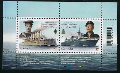 NAVY, Ship MNH Souvenir Sheet of 2  CANADA 2010 Cat. 2384