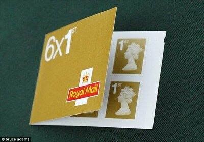 Postage Stamps Book of 6 x 1st Class (Sealed Packet Of 50, total of 300 Stamps)