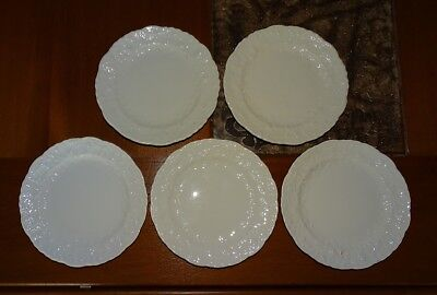 POPE GOSSER ROSE POINT 56 Bread & Butter Plates Dishes - Set of 5 - Vintage Rare