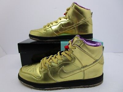 sports shoes f318f f546b NIKE SB DUNK High Humidity Gold Black AV4168-776 Size Men's Size 10.5