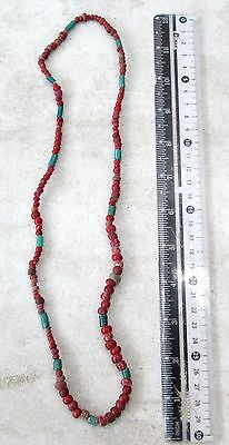 Vintage Chin Hill Tribe White Heart Venetian Glass Bead Necklace