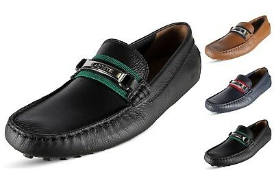 a717da32759b Lacoste Ansted 119 1 U Mens Classic Slip on Driving Leather Moccasins
