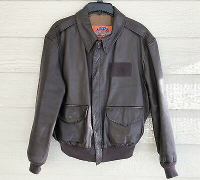 3a980863e US ARMY AIR Force Flyers Men's Leather Type A-2 Flight Jacket - Size 44R