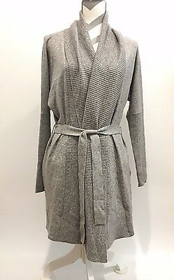 b3575c82b5 Ugg Cheyenne Cashmere Wrap Sweater   Robe Grey Women s Us Size L -New