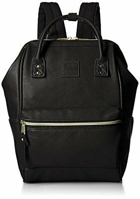 Anello official synthetic leather mouthpiece backpack small AT-B1212 BK... Japan