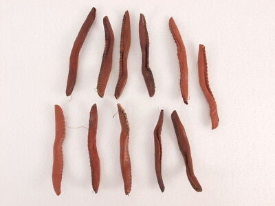 Vintage Antique Leather Hair Curlers Rollers Ties Lot/11 Beauty Styling Tools