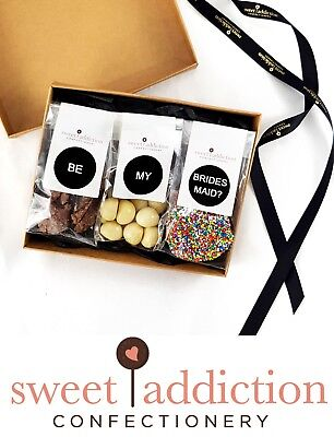 Sweet Addiction Premium Chocolate Gift Hamper Box Wedding - Be My Bridesmaid