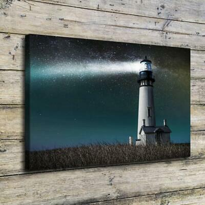 Meadows Lighthouse HD Canvas Print Painting Home Decor room Wall Art Picture 127