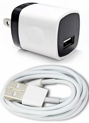 1x Wall Charger Adapter + 1x USB Data Sync Charger Charging For Phones Tablets