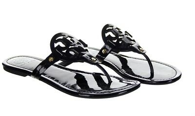 5d0aa9974 TORY BURCH MILLER Sandal Size 7 Black Patent Pre Owned -  89.99 ...