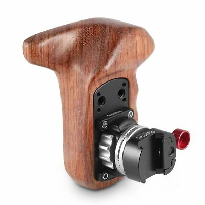 SmallRig 2118 Left Side Wooden Grip Handle with Arri Rosette NATO Clamp Mount