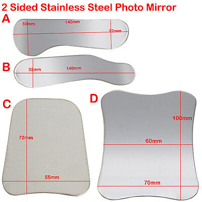 Dental Intra Oral Double-Sided Photo Mirror Stainless Steel Photographic 4 Sizes
