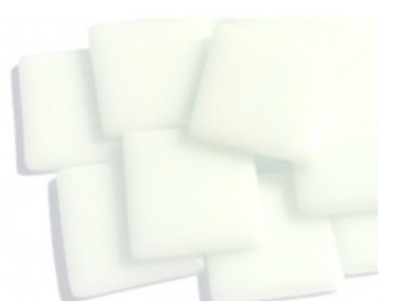 Broken White Gloss Glass Mosaic Tiles 2.5cm - Art Craft Supplies