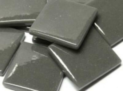 Charcoal Gloss Glass Mosaic Tiles 2.5cm - Art Craft Supplies