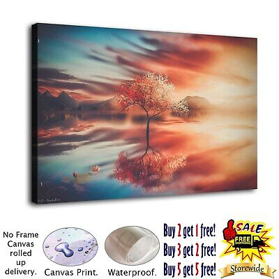"""12""""x18"""" Trees Fantasy Art HD Canvas Print Painting Home Decor room Wall Picture"""