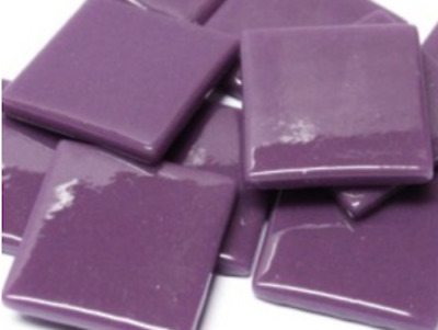 Deep Purple Gloss Glass Mosaic Tiles 2.5cm - Art Craft Supplies