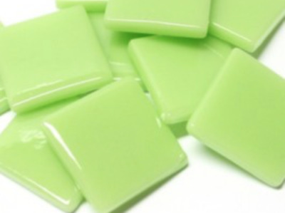Mint Green Gloss Glass Mosaic Tiles 2.5cm - Art Craft Supplies