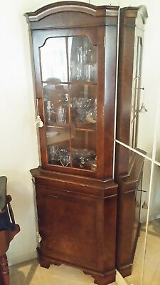 Vintage Style Walnut Corner Cabinet - Quality Piece of Furniture