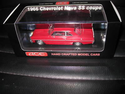 1/43 Ace  1966 Chevrolet Nova Ss Coupe Red  Roof Great Looking Model Car
