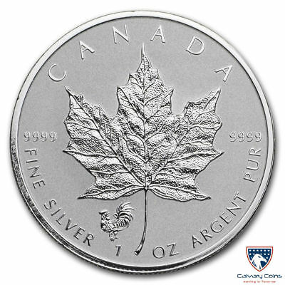 2017 1 oz Canada Silver Maple Lunar Rooster Privy Coin (Reverse Proof)