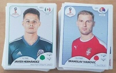 Panini FIFA World Cup Russia 2018 Stickers Choose Your Sticker