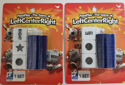 New 2 Pass Play Left Center Right Dice Game, Free Satin Dice Bag & Shipping
