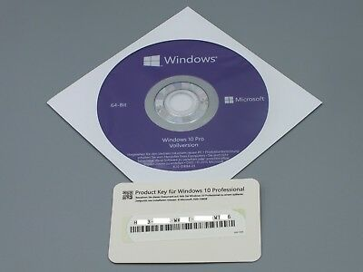 Windows 10 Professional 64Bit DVD Vollversion + Win 10 Pro COA OEM Key Card