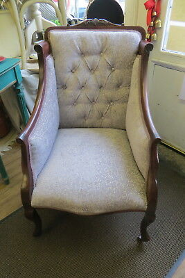 French Bergere Chair Newly Upholstered