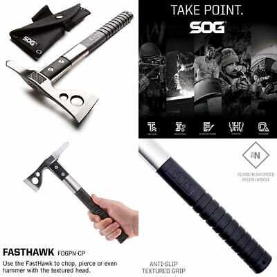 Tomahawk Throwing Axe Fasthawk Hatchet Tactical W Sheath Andpetition W/ Hammer E