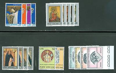 Vatican City 1971 Compete MNH Year Set