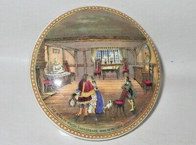 "PRATTWARE POT LID "" THE ROOM IN WHICH SHAKESPEARE WAS BORN "" 19th, Cent.."