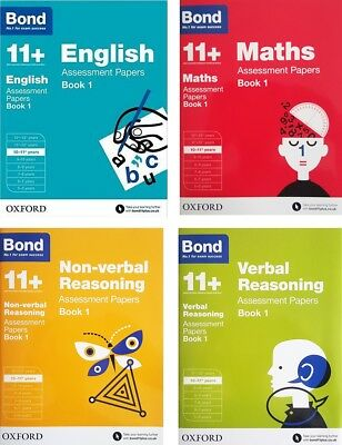 Bond 11+ Assessment Papers 4 Book Set 10-11 Y: English Maths Verbal & Non-verbal