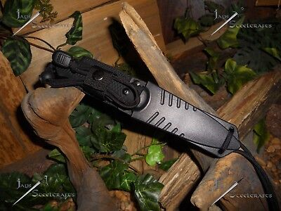 Survivor/Belt/Boot/Neck/Knife/Full tang/Concealable/Survival/Combat/Paracord 550