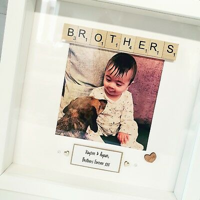 Brother Handmade Personalised Frame Scrabble Brothers