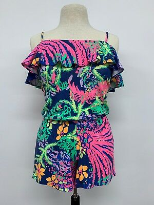 b9c6da648e80 NWT LILLY PULITZER Klea Off-The Shoulder Romper In One Too Many ...