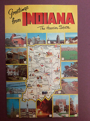 Indiana The Hoosier State Woven Tapestry Throw Blanket Wall Hanging Indy 500 B14 Home & Garden