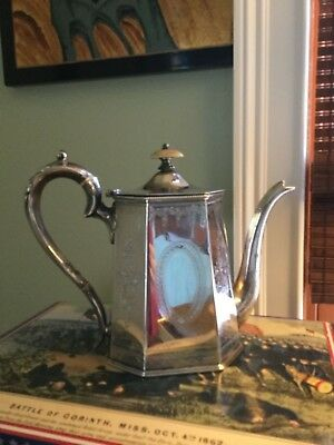 Gorgeous Antique  Silver Coffee Pot Federal style Old Sheffield Plate ?