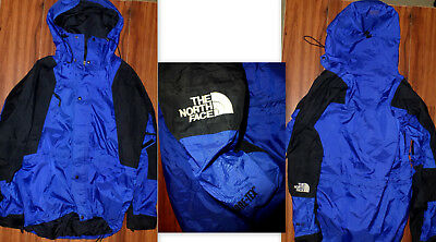e31de381631 Mens 90 s Vintage The North Face Gore-Tex Hooded Blue Mountain Jacket Size  Xl