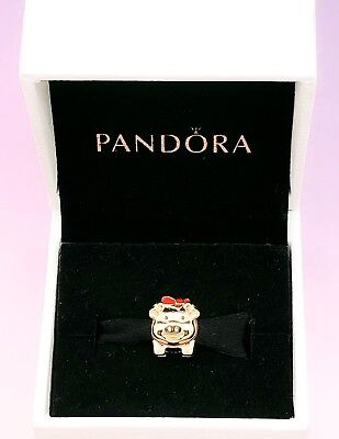 NEW PANDORA SHINE Chinese New Year Gold Pig Piggy Bank Charm Pendant 767815ENMX