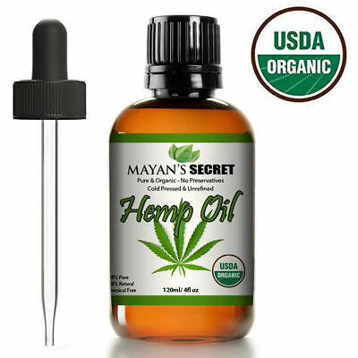 4 Oz 100 % Pure Organic Hemp Seed Oil Raw Pure  Unrefined Cold Pressed Virgin