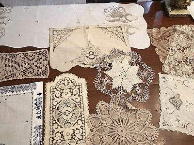 PicClick & VINTAGE DOILIES CROCHETED Lace Table Covers Lot of 10 (3)