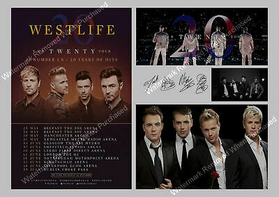 WESTLIFE THE TWENTY Tour 2019 Autographed Signed Photo A4 Print