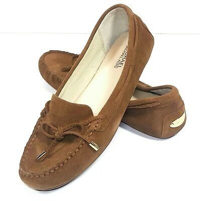 1ee73525ff4 Michael Kors Shoes Daisy Moccasin Flats Dark Caramel Brown Womens Size 9.5  US